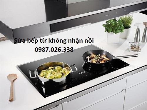bếp từ không nhận nồi dù dùng đúng nồi
