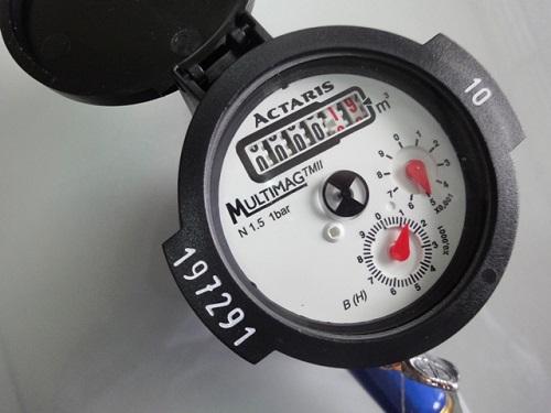 cách xem đồng hồ nước