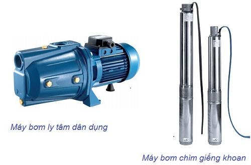 Các loại máy giếng khoan thường dùng