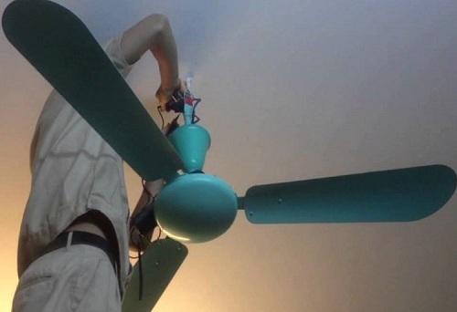 Cách lắp quạt trần 3 cánh