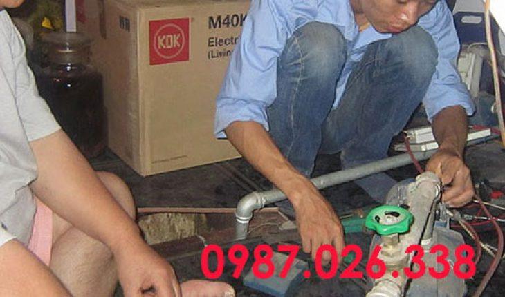 sửa máy bơm giếng khoan lên nước yếu