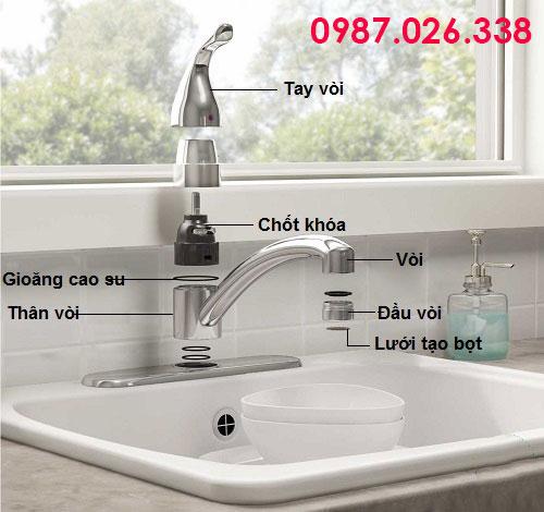 Cấu tạo vòi nước rửa chén