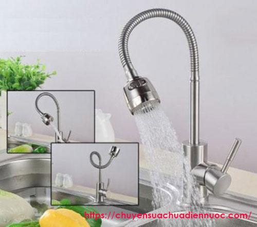 Vòi nước rửa chén kéo dài