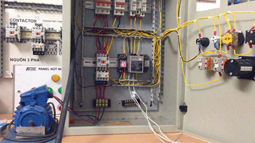 Đấu dây dẫn trong tủ điện 3 pha