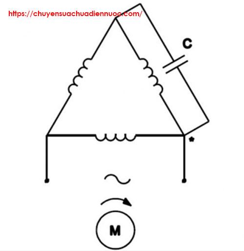 Cách đấu nối điện 3 pha thành 1 pha hình tam giác