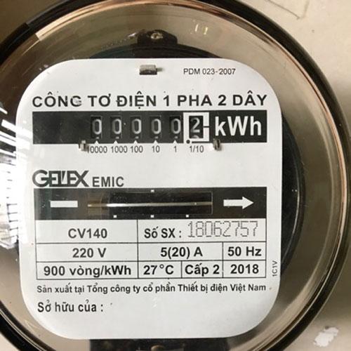 Ý nghĩa số đếm trên công tơ điện
