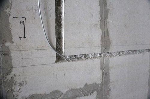 Thi công cắt tường xẻ rãnh