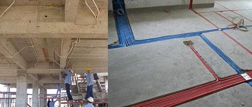 Đi dây điện âm sàn - âm tường