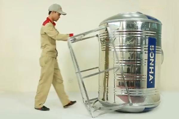 Cách lắp bồn nước nhựa ngang