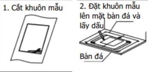 Xem bản vẽ kỹ thuật và lấy dấu vị trí