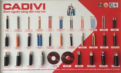 Các loại dây dẫn điện Cadivi