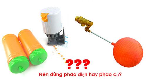 Nên dùng phao điện hay phao cơ