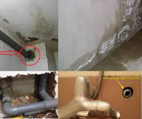 Tìm rò rỉ nước trong tường