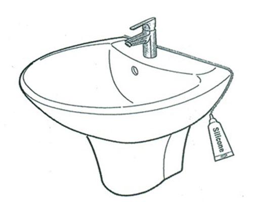 Lắp thân lavabo