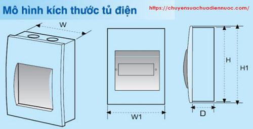 Kích thước tủ điện âm tường