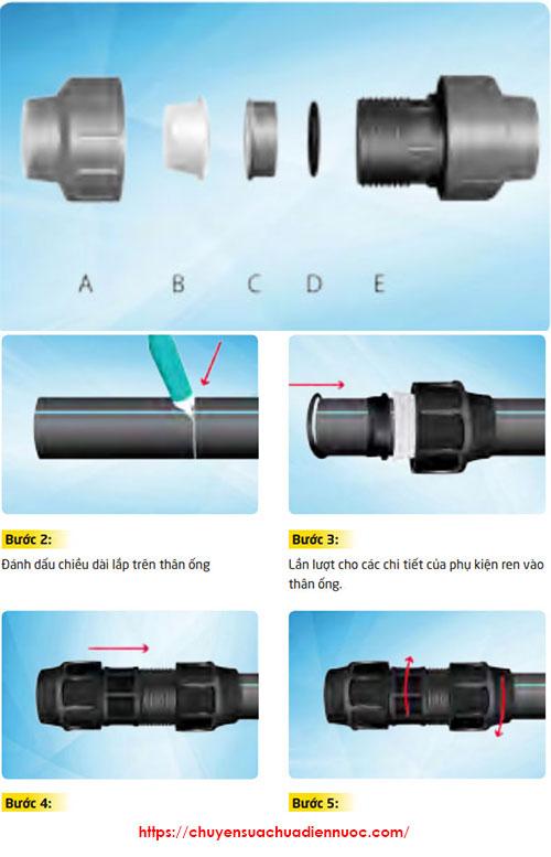 Nối ốngHDPEbằng phương pháp măng sông