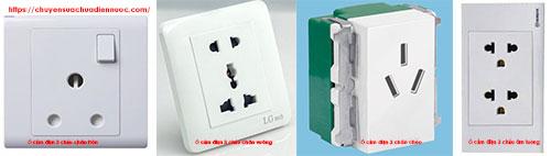 Các loại ổ cắm điện 3 chấu