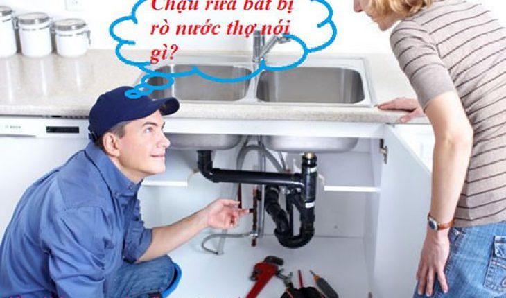 cách xử lý bồn rửa bát bị rò nước