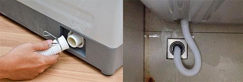 lắp ống thoát nước máy giặt