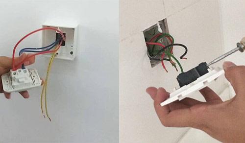 Cách lắp ổ điện Panasonic